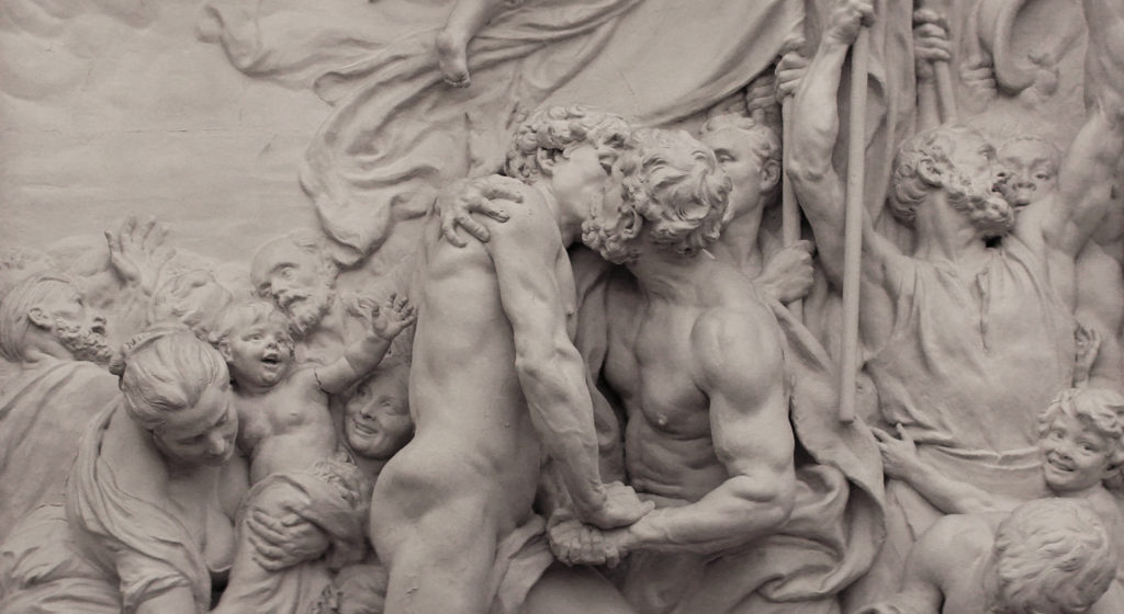 Aimé-Jules Dalou, Brotherhood (La fraternité), 1883, plaster. Paris, city hall of the Xth arrondissement. Credit: Wikimedia Commons / CC BY-SA 3.0 / photo by Coyau.