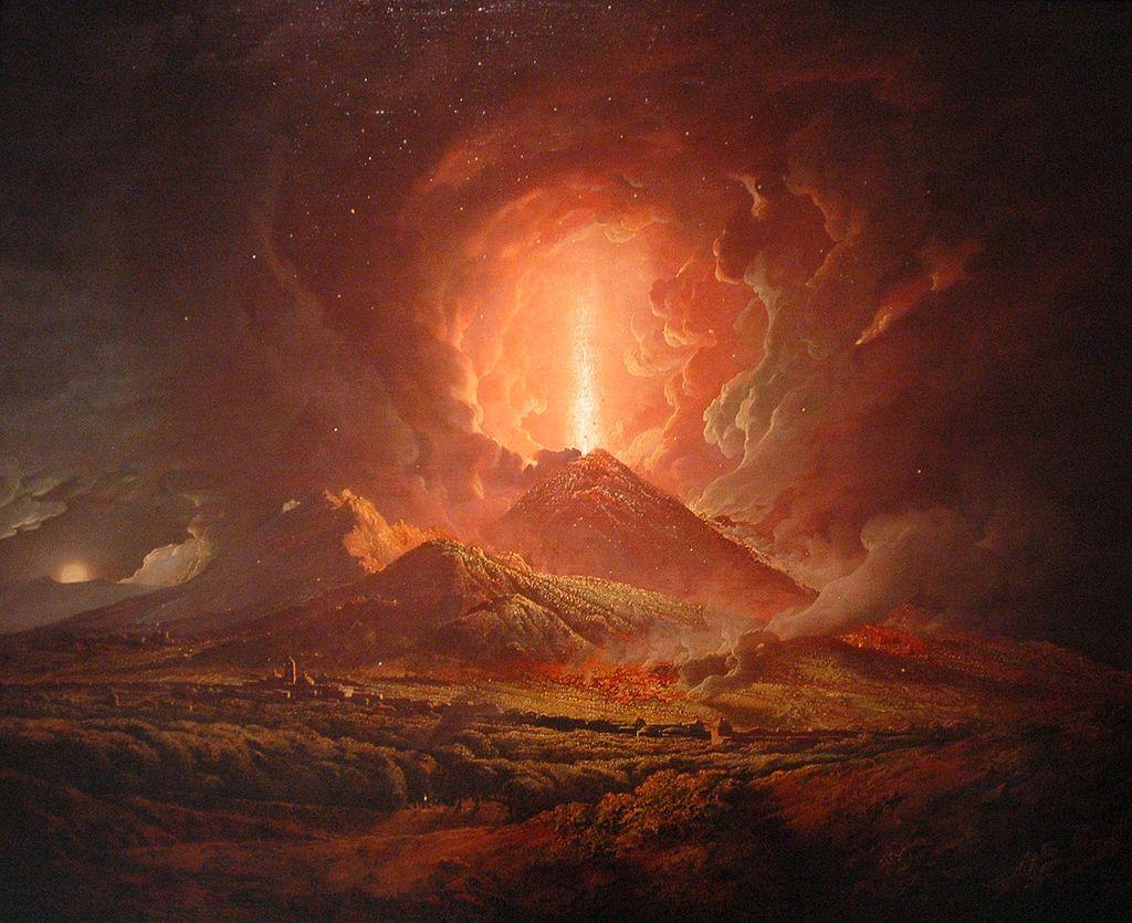 Joseph Wright (ca. 1774-6), An eruption of Vesuvius seen from Portici