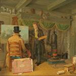 Anthony Oberman, De schilder in zijn atelier (1820). Rijksmuseum Amsterdam.